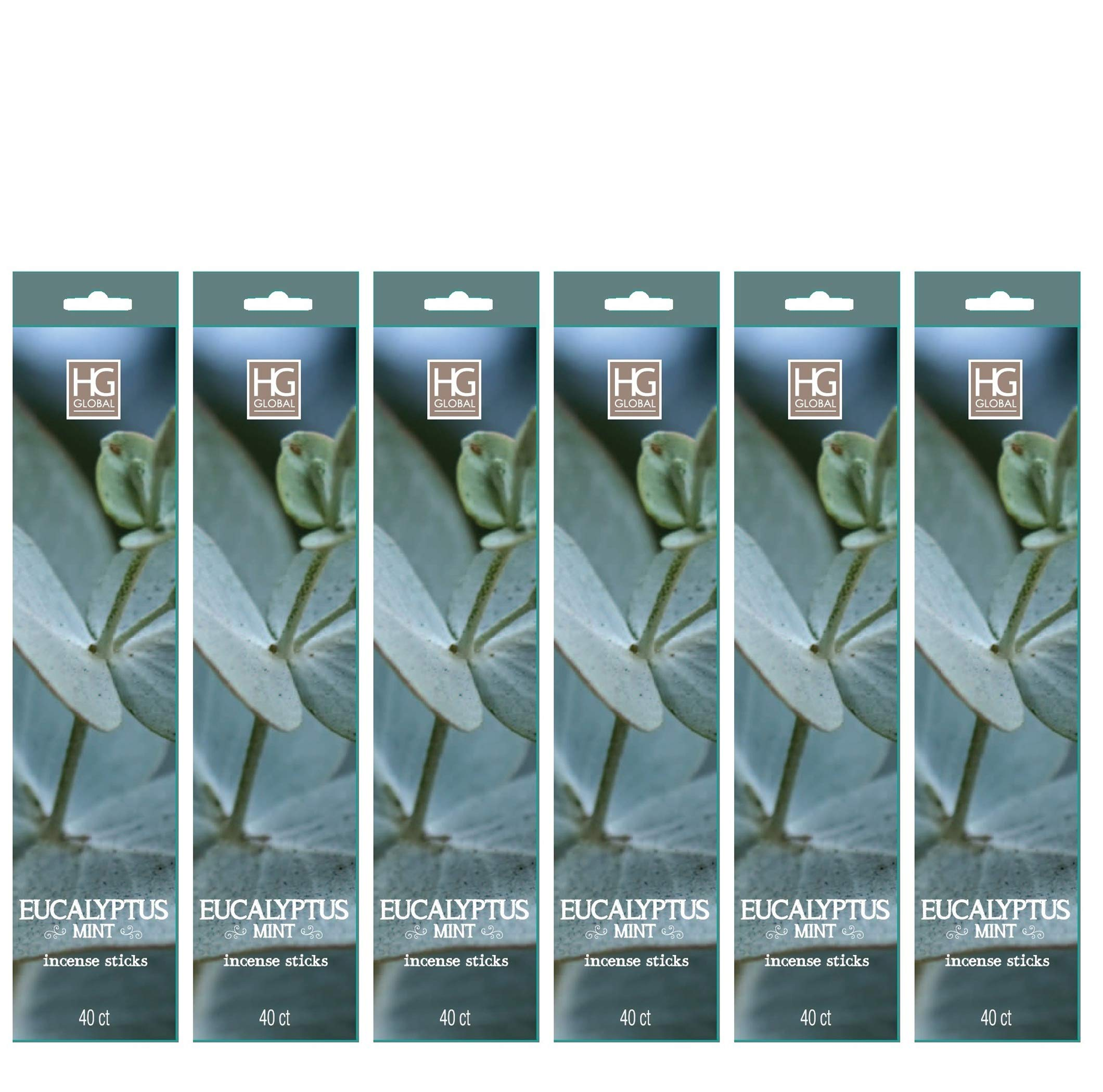 Hosley's 240 Incense Sticks/Approx. 240 gm. EUCALYPTUS MINT. Highly Fragranced. Ideal for Weddings, House Warming, Home Office, Meditation, Reiki Settings. O3
