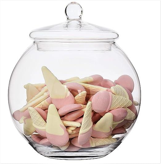 Panera de acero inoxidable de cristal Rosalie de galletas ...
