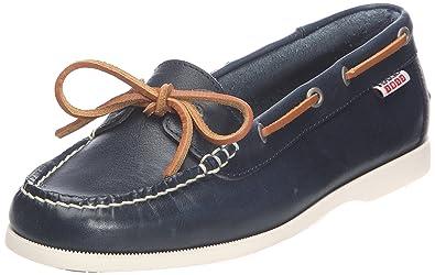 Americasual W, Chaussures bateau femme - Bleu (Night), 39 EUAigle