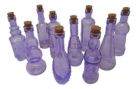 Amazon.com: BULK PARADISE - Juego de 10 botellas de cristal ...