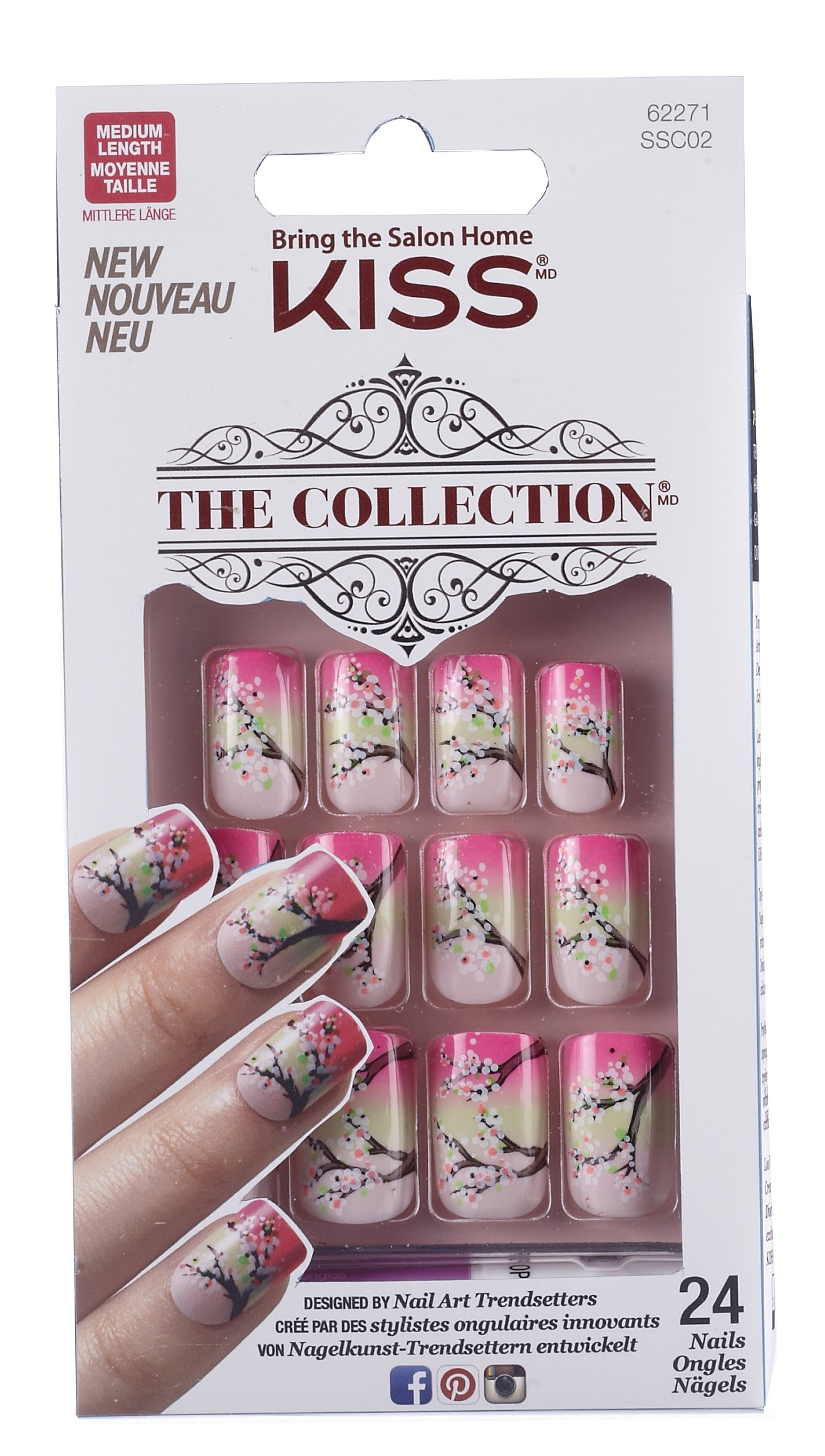 Amazon.com: Kiss The Collection Nails (SSC03 - TEMPTATION) Medium ...