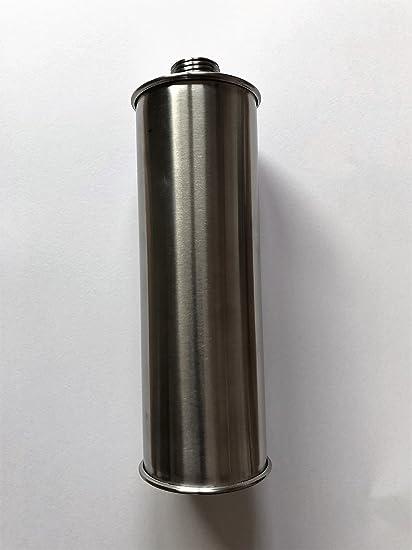 Recipiente de acero inoxidable de repuesto para dispensador de jabón dispensador de jabón empotrable (Acero