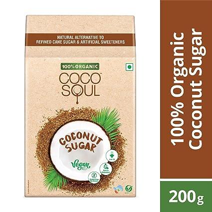 Coco Soul 100% Organic Coconut Sugar, 200g