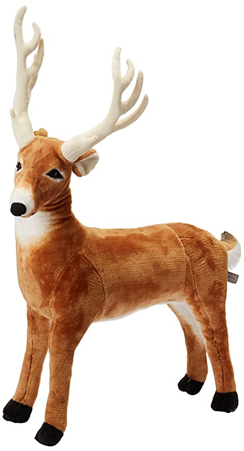Amazon Com Melissa Doug Giant Deer Lifelike Stuffed Animal