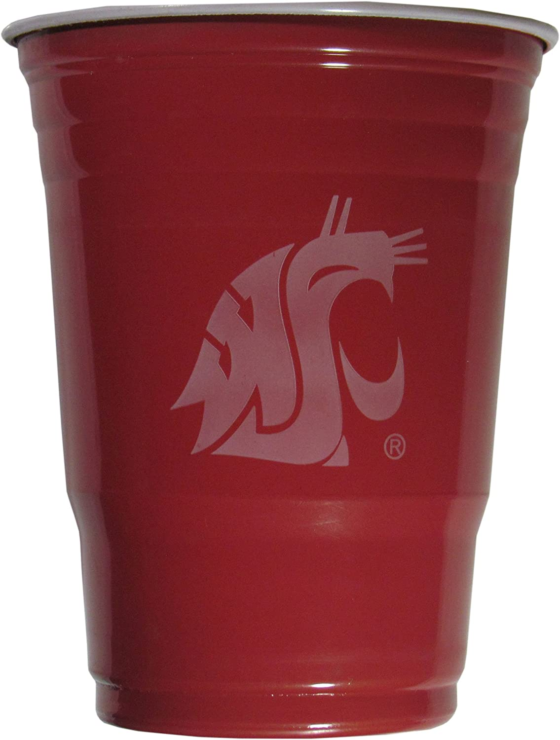 NCAA Plastic Game Day Cups Washington State Cougars,18-Ounce Sleeve of 18 cups