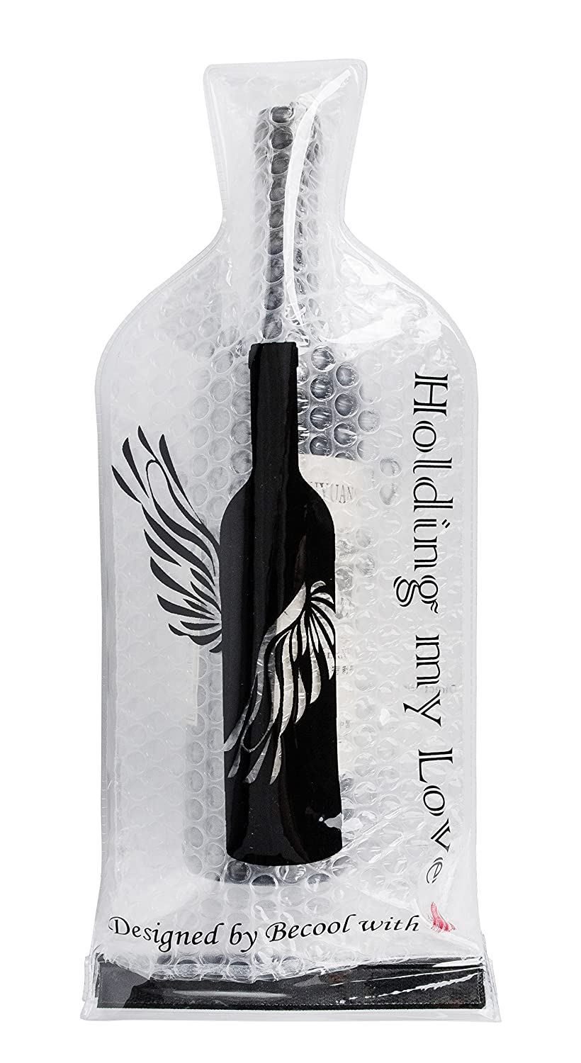Reusable Wine Bottle Protector Bag~With Inner Skin and Leak Proof Exterior for Travel 6 Pack