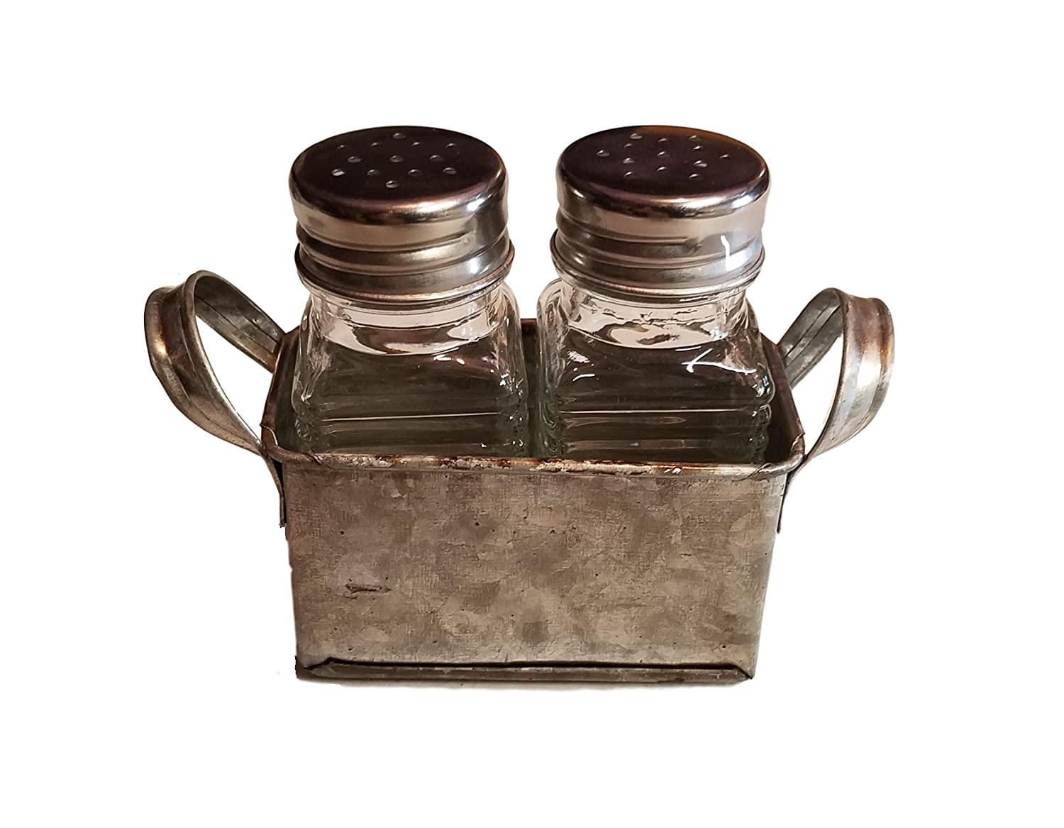 Amazon.com: Industrial Salt and Pepper Shaker Set in Galvanized ...