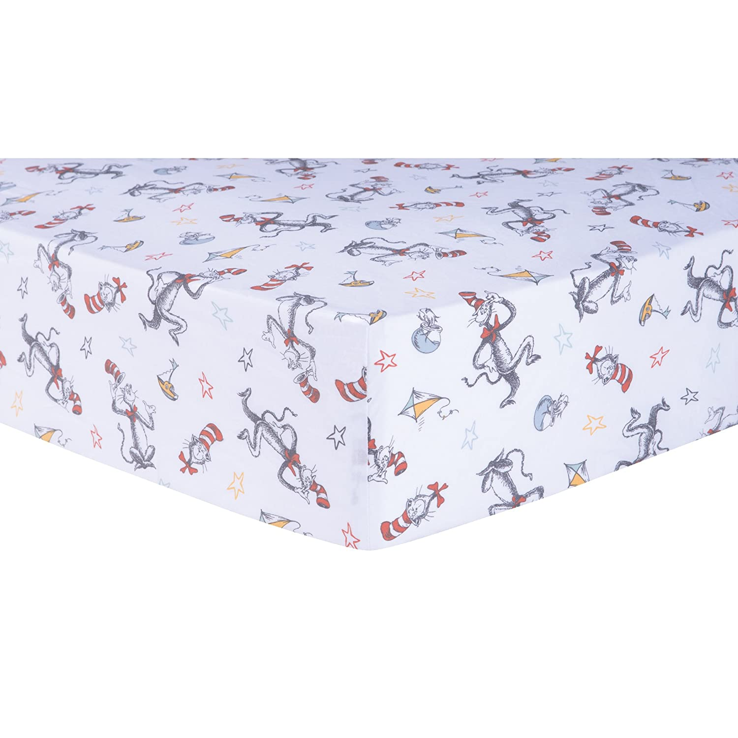 Trend Lab Dr. Seuss Classic Cat in the Hat Fitted Crib Sheet, Multi 30524