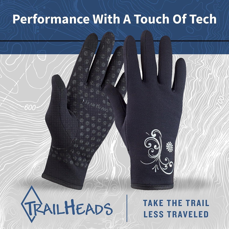 TrailHeads Women/'s Running Gloves Touchscreen Gloves Power Stretch Winter Running Accessories