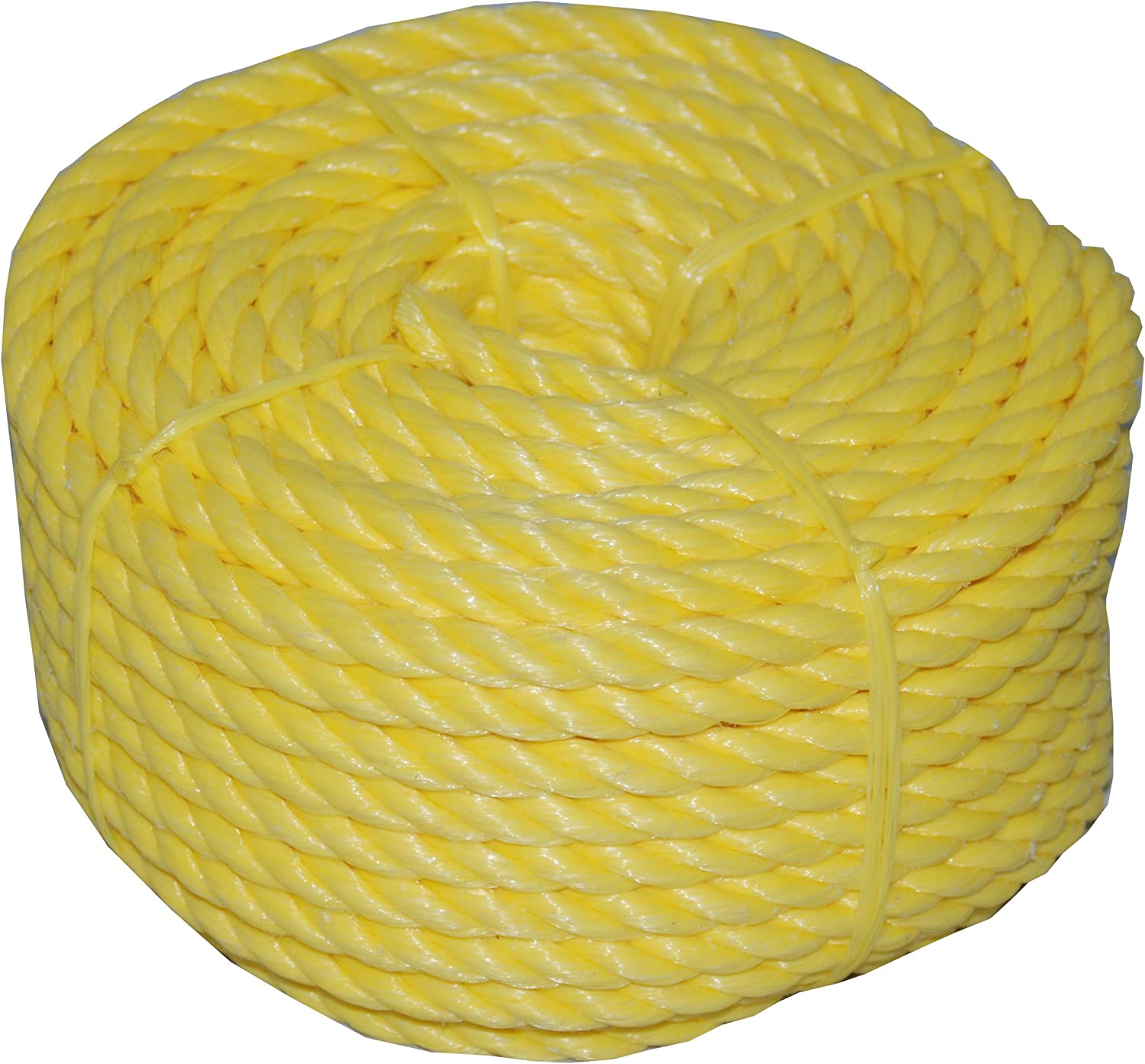 T.W Evans Cordage 31-022 3//8-Inch by 100-Feet Twisted Yellow Polypro Rope Coilette