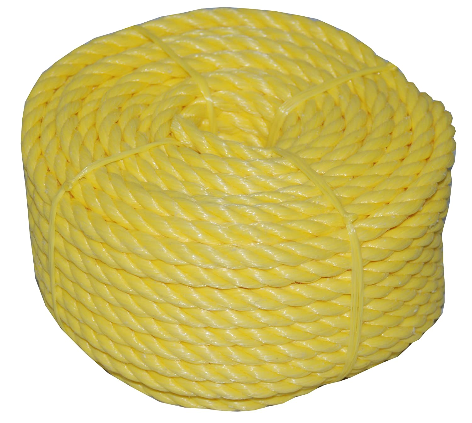 Evans Cordage Co. T.W Evans Cordage 31-063 3//4-Inch by 50-Feet Twisted Yellow Polypro Rope Coilette T.W