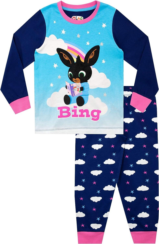 Bing Pijamas de Manga Larga para ni/ñas