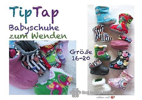 TipTap Nähanleitung mit Schnittmuster für Baby-Hausschuhe zum Wenden ...