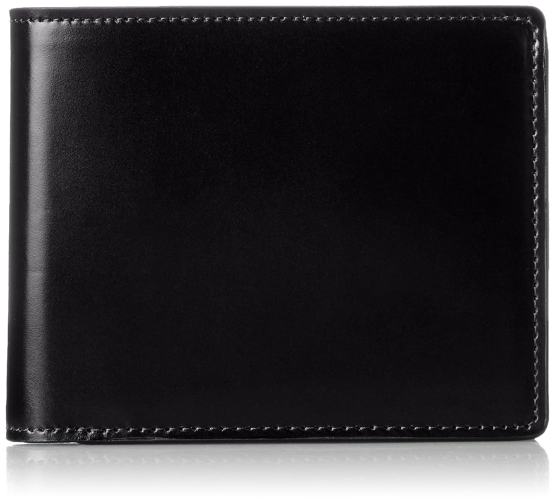 [ミカド] 二つ折り財布 アニリンコードバン シリーズ MK636015 B0167T028W ブラック ブラック