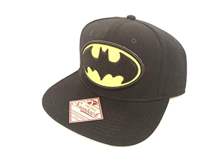 cc8baaea Image Unavailable. Image not available for. Color: BW New DC Comics Batman  Logo Logo Snapback Hat ...