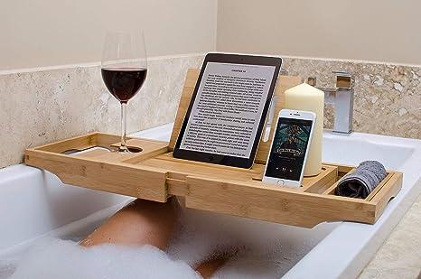 Vassoio Vasca Da Bagno : Vassoio in bambù per la vasca da bagno con gambe e braccia