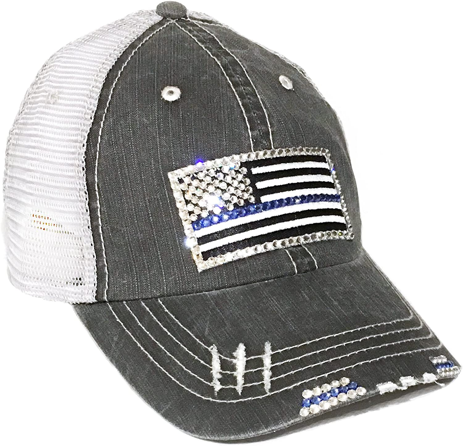 Thin Blue Line Flag Bling...