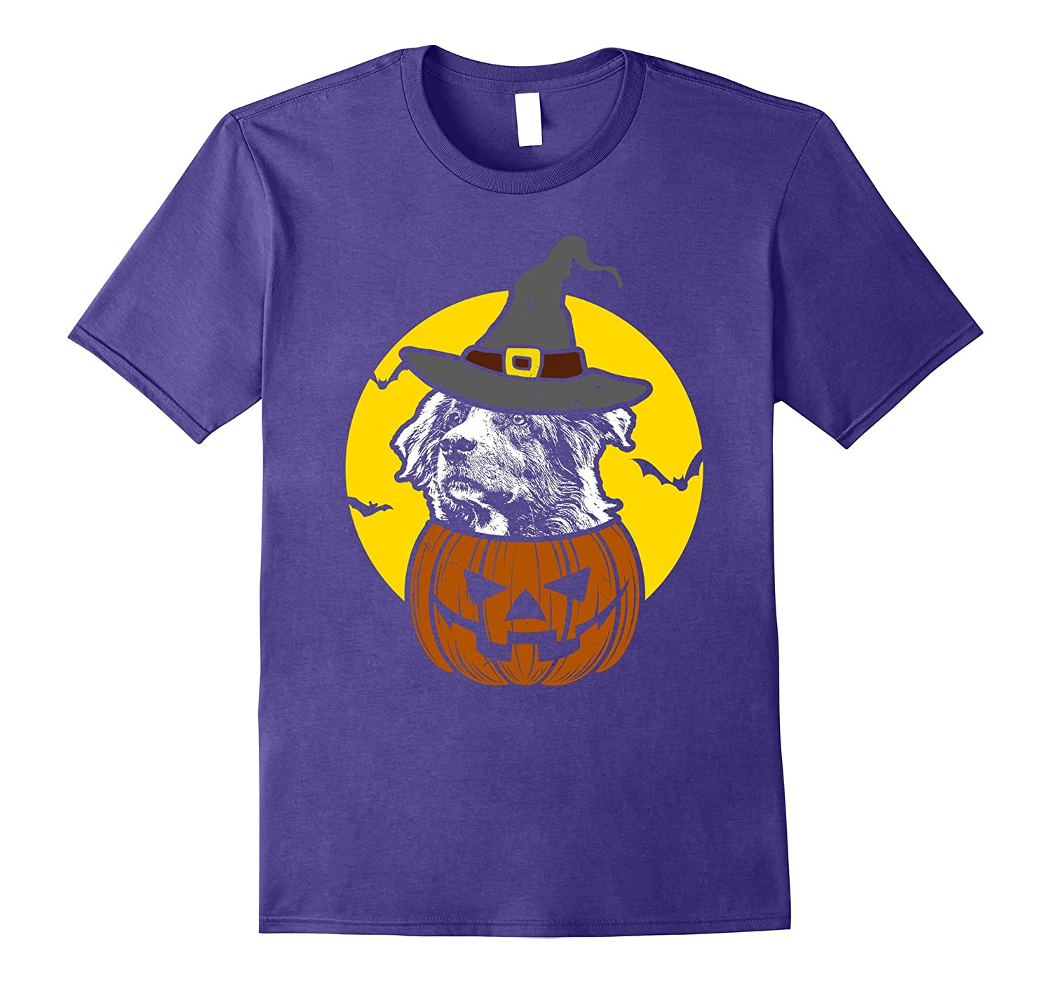 Aussie Pumpkin Tee Scary Halloween T Shirt-FL