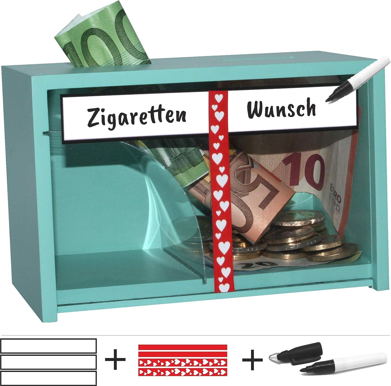 jaggson No Fumadores de Caja registradora Hucha > Deseos para Cigarrillos de Dinero > Escribir, Verde Menta: Amazon.es: Juguetes y juegos