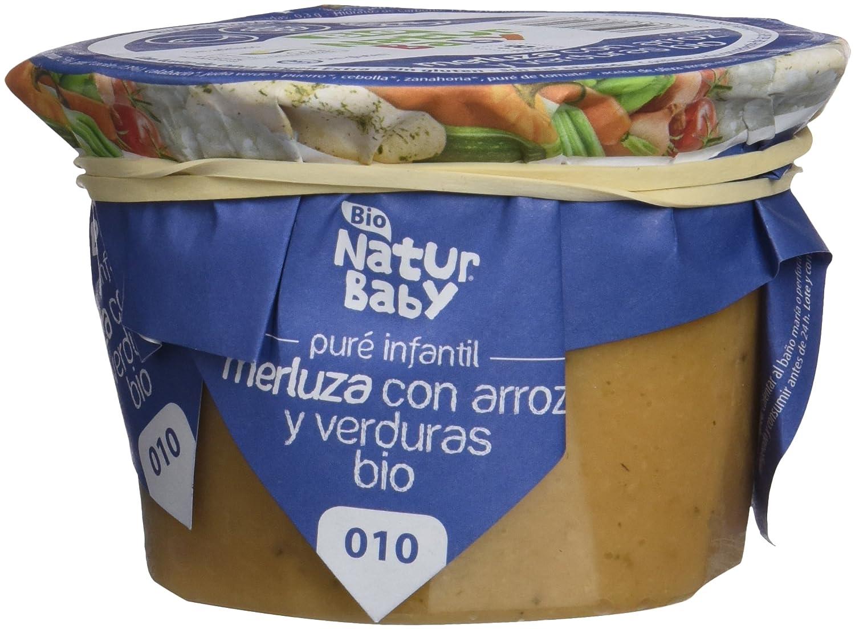 Natur Baby Puré Ecológico de Merluza con arroz y verduras para Bebé - Paquete de 12 x 230 gr - Total: 2760 gr: Amazon.es: Alimentación y bebidas