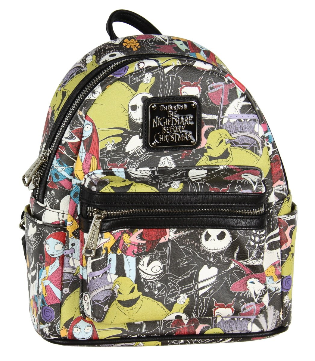 Loungefly The Nightmare Before Christmas Allover Print Character Mini Backpack WDBK0160