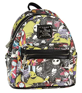 loungefly the nightmare before christmas allover print character mini backpack - The Nightmare Before Christmas Backpack