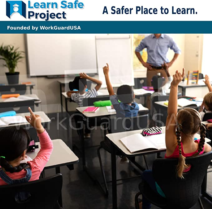 Crystal Clear Sneeze Guard for Classroom Social Distancing School Desks or Tables Three Sides.