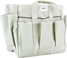 Martha Stewart Heavy-Duty Canvas Garden Bag, 6 Exterior 11-Inch Interior Pockets