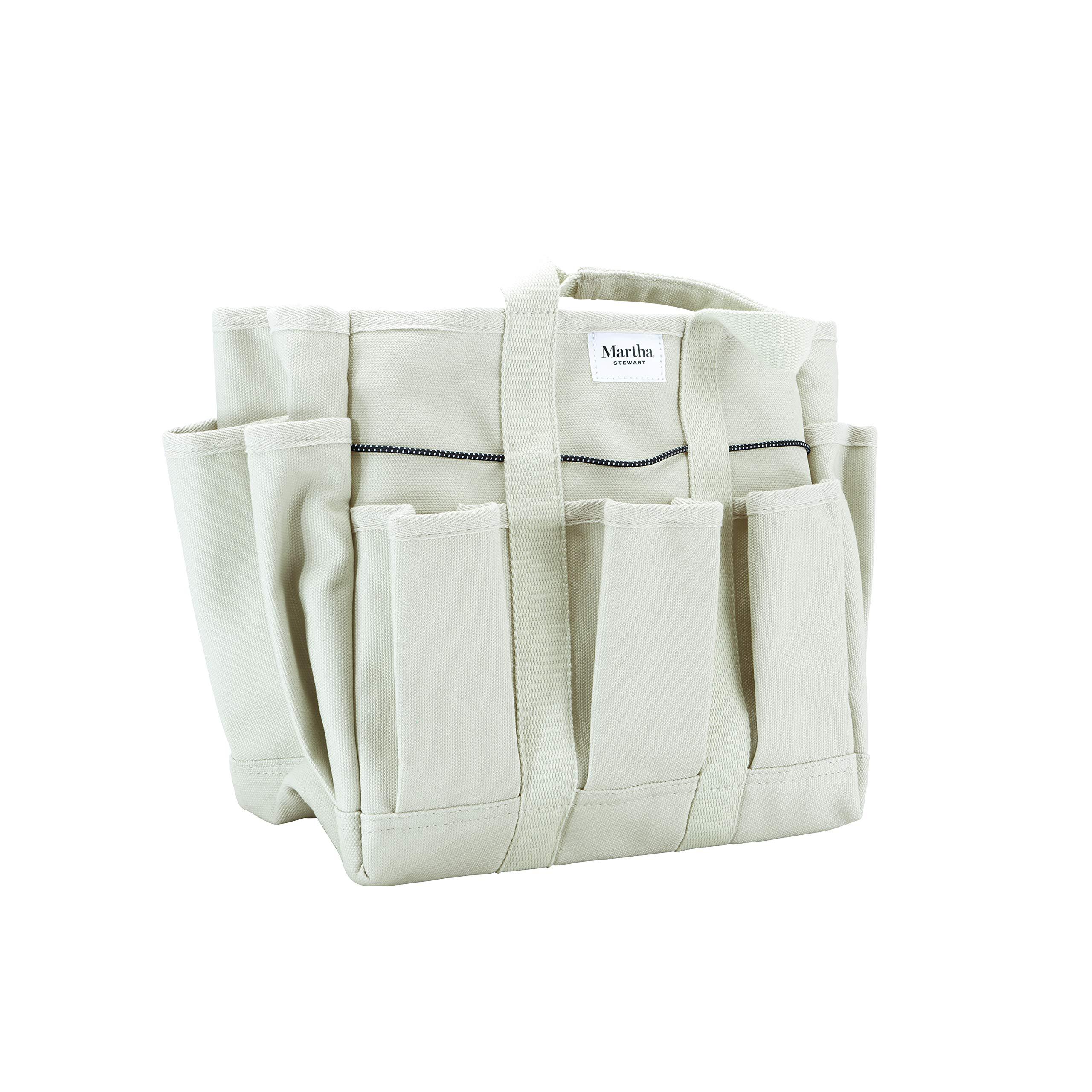 MARTHA STEWART Heavy-Duty Canvas Garden Bag, 6 Exterior 11-Inch Interior Pockets