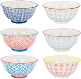 "Nicola Spring Patterned Cereal Bowls, 6 Individual Designs - 152mm (6"") - Set of 6"