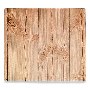 Copri Top Cucina.Zeller 26288 Pannello Copri Piano Cottura Wood In Vetro