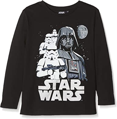 Disney Star Wars Darth Vader/Stormtrooper Camiseta para Niños: Amazon.es: Ropa y accesorios
