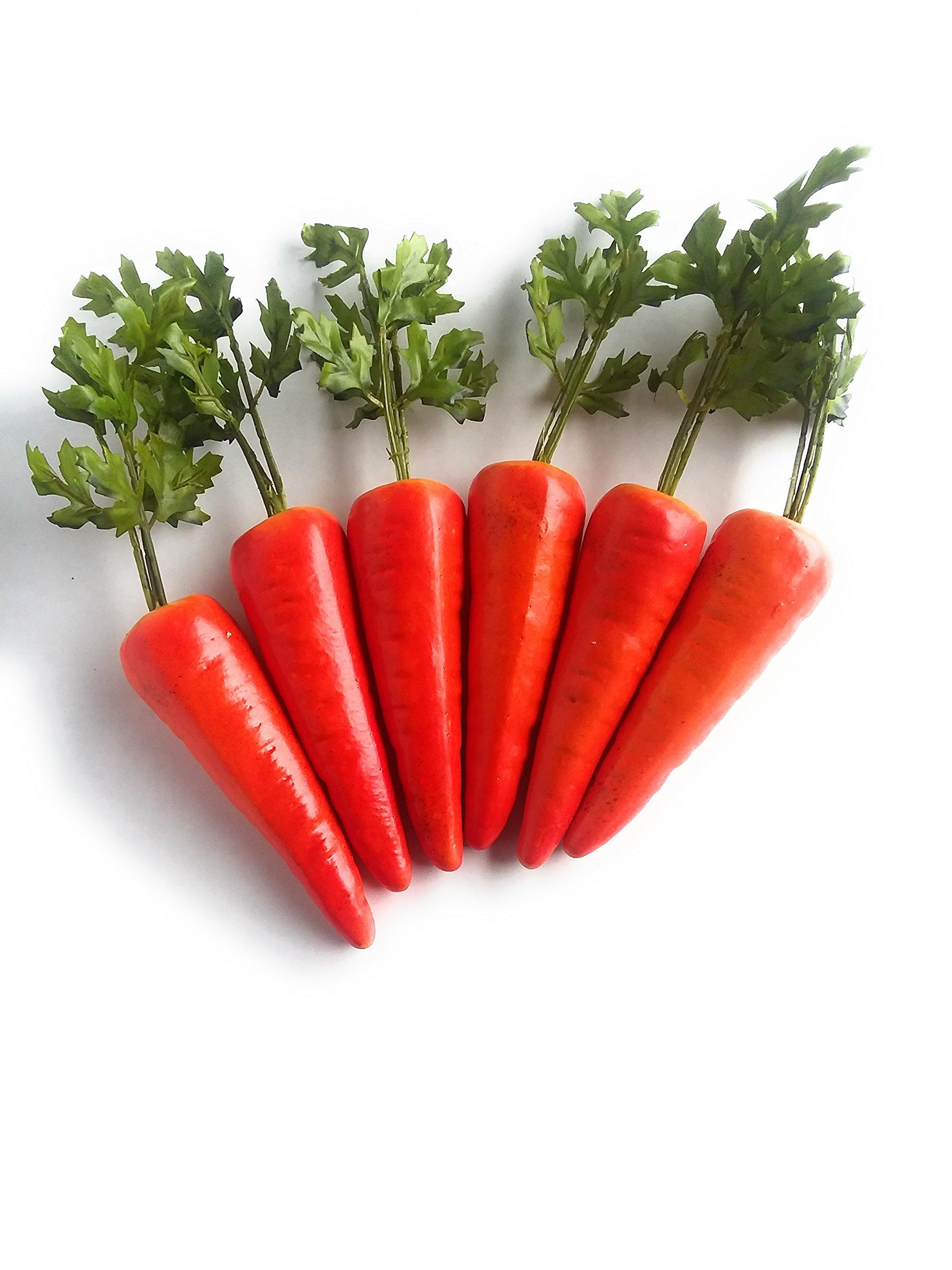 Mezly 6pcs Simulation Carrots Artificial Vegetables Home & Kichen Decorations by Mezly