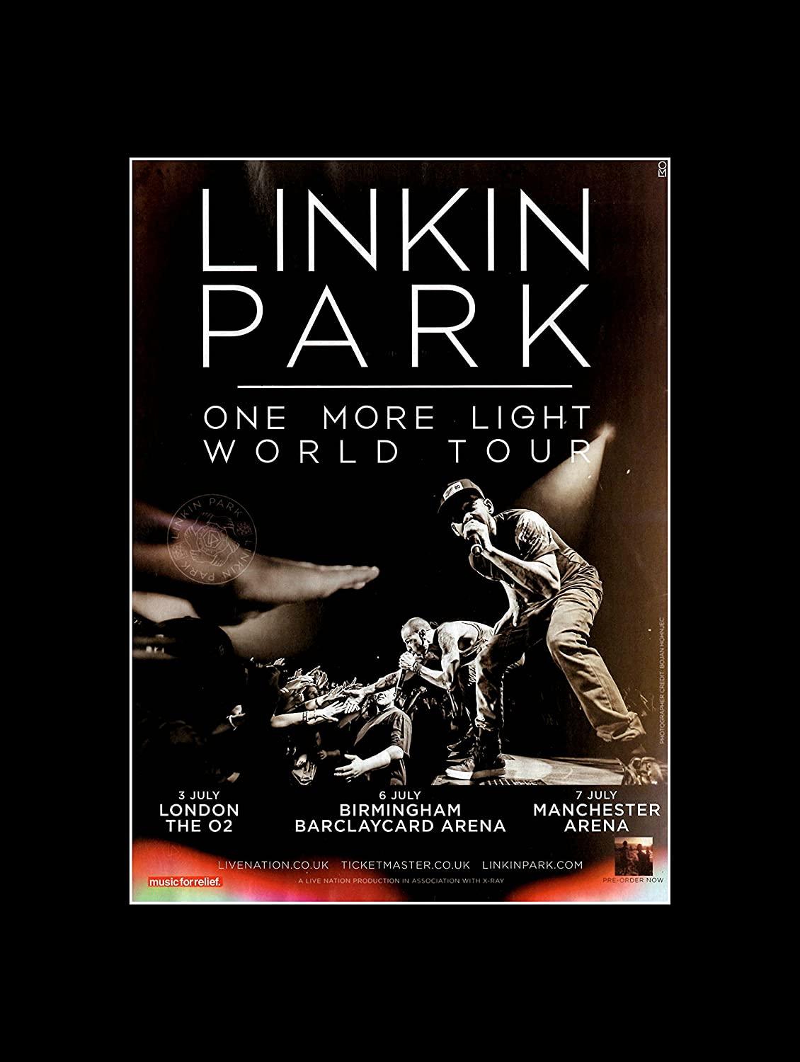 Stick It On Your Wall Linkin Park – One mehr Licht Tour 2017 Mini ...