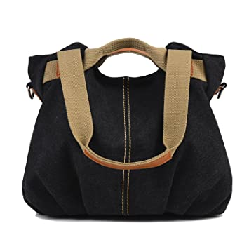 f28cd20f61f LOSMILE Women s Handbag, Canvas Shoulder Bag Top Handle Bags Satchels Beach Tote  Bag Cross Body