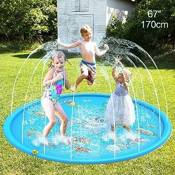 Leader Accessories Splash Pad Play Mat Juegos de Agua al Aire Libre para Niños PVC Aspersor Almohadilla Jardín Verano Juguetes Acuático Actividades Familiares. 170cm: Amazon.es: Juguetes y juegos