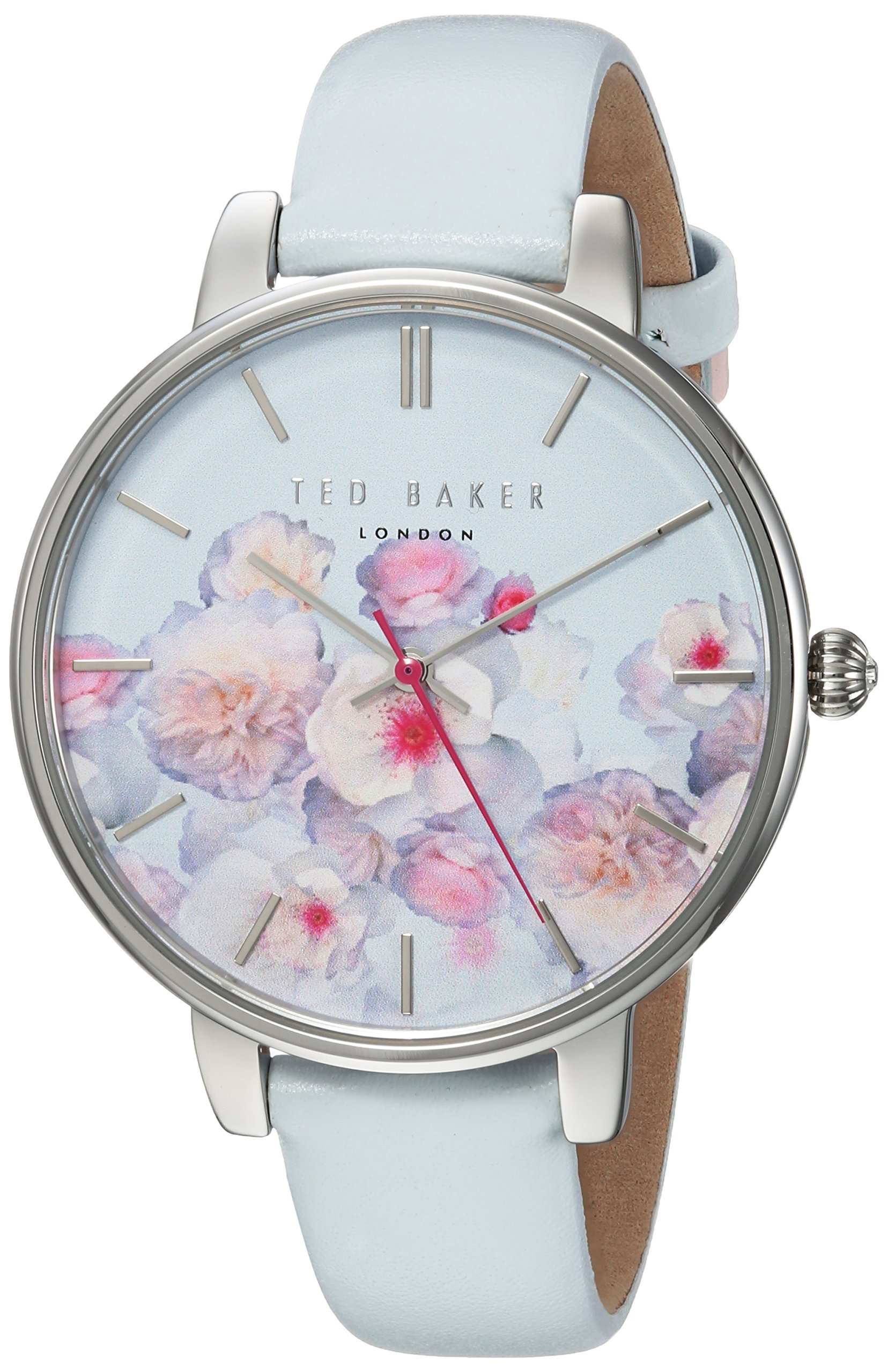 Ted Baker Women's 'KATE' Quartz Stainless Steel and Leather Casual Watch, Color:White (Model: TEC0025012)