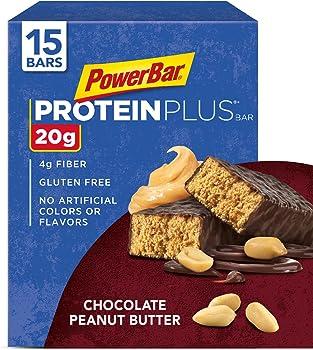 15-Pack PowerBar Protein Plus Chocolate Peanut Butter Bar