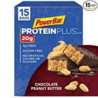 Deals on PowerBar Protein Plus Bar, Chocolate Peanut Butter, 2.12 oz Bar, 15 Count