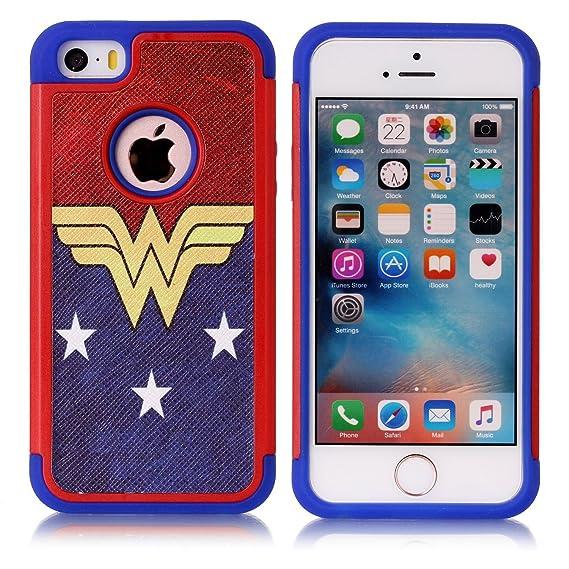 amazon com iphone 5s case, iphone se case, female super heroineiphone 5s case, iphone se case, female super heroine pattern shock absorption hard
