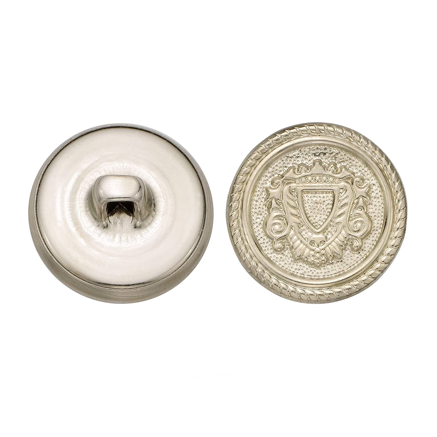 Size 30 Ligne 36-Pack Nickel C/&C Metal Products 5158 Rope Rim Crest Metal Button