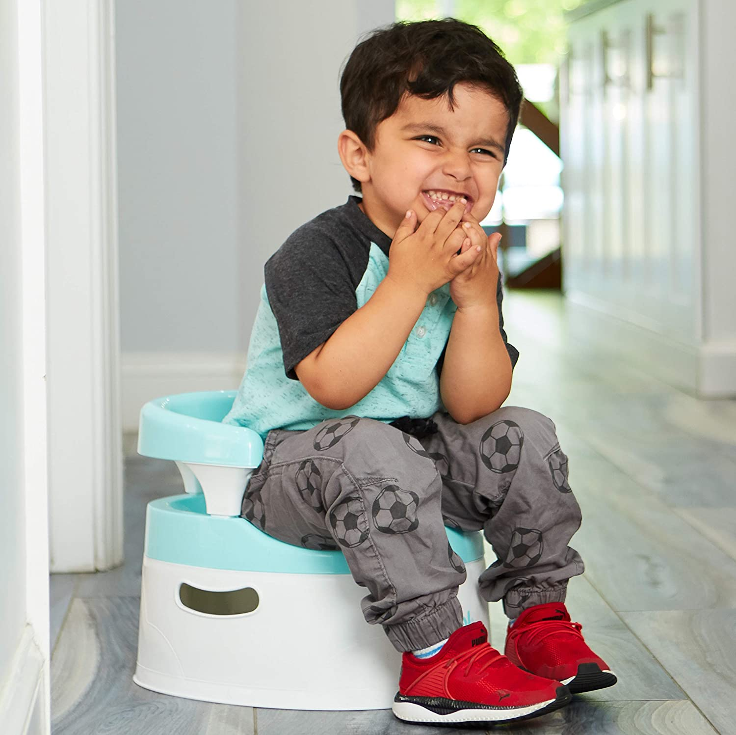 Handles /& Splash Guard Comfortable Seat for Toddler by Jool Baby Child Potty Training Chair for Boys and Girls