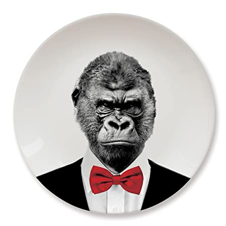 Mustard Wild Dining Gorilla Dinner Plate I Funny Dinner Plate I 100% Ceramic I 9  sc 1 st  Amazon UK & Mustard Wild Dining Gorilla Dinner Plate I Funny Dinner Plate I 100 ...