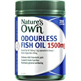 Nature's Own Odourless Fish Oil 1500mg - Naturally-derived omega-3 - Maintains general health and wellbeing, 200…