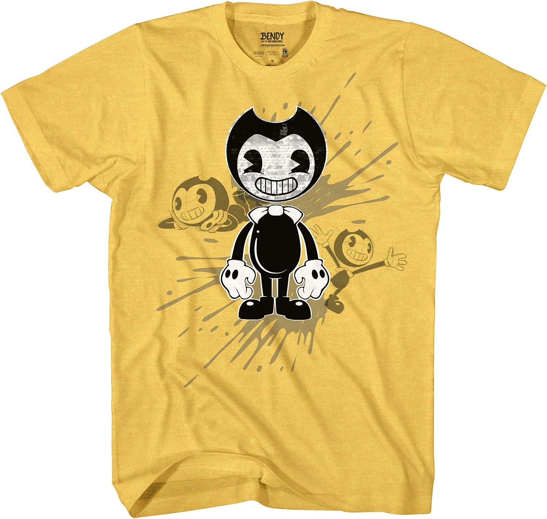 Official Bendy T-Shirt Bendy and the Ink Machine Shirt Bendy Dark Revival Boys Flip Sequins T-Shirt