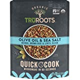 TruRoots Organic Quick Cook Olive Oil and Sea Salt Quinoa, Brown Rice and Lentil Blend, 8.5 Ounces, Ready to Eat in 60 Second