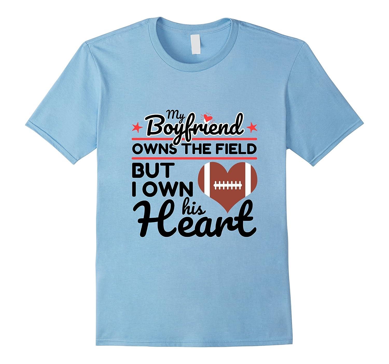 Football Boyfriend T Shirt Girlfriend Gift-FL