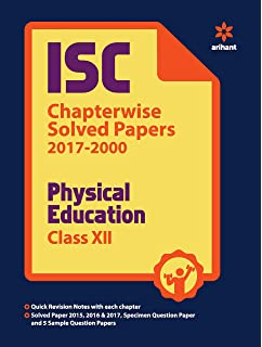 Amazon buy isc physical education class xii book online at low isc chapterwise solved papers physical education class 12th malvernweather