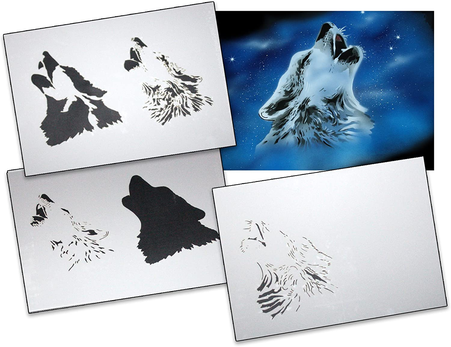 UMR-Design AS-027 Flash Airbrush Stencil Template Step Step Size S