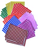 """KIDS COLORED ROUND DOTS 3/8 """" inch (0.375"""") 8 COLORS - 32 SHEETS -10mm - Arts, Crafts, Fun and Games Stickers - 4832 PACK"""